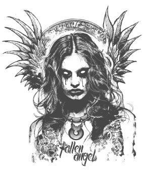 Fallen Angel Vector Illustration