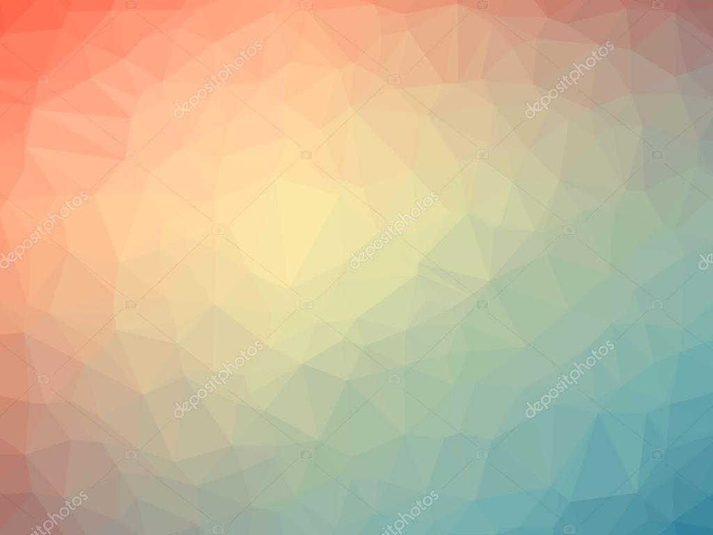 Arco-íris Laranja Polígono Gradiente Azul Em Forma De