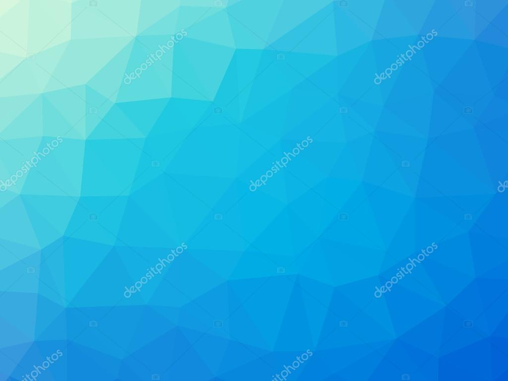 Blue Turquoise Gradient Polygon Shaped Background