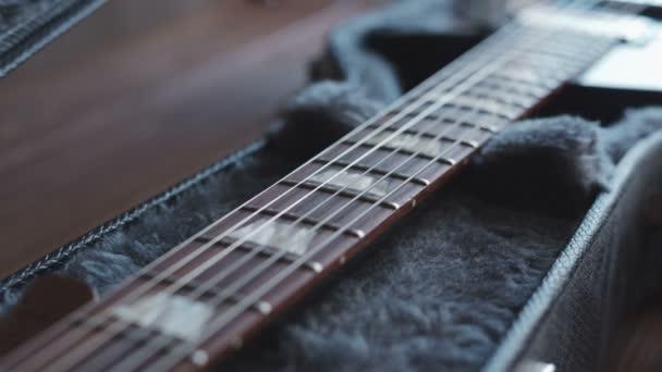 Oroszország, Szentpétervár - augusztus 3, 2015-re: Abban az esetben, Gibson Les Paul elektromos gitár
