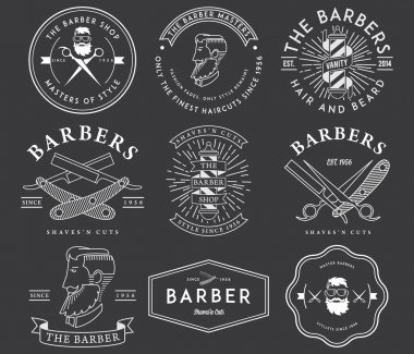 Barber style white