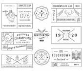 Amerikai futball jelvények és címerek vol 1