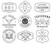 Fotografie Americký fotbal odznaky a hřebenech vol 2
