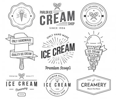 Vector ice cream badges and signs for any use stock vector