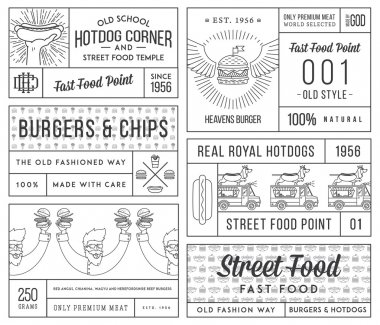 Vector fast food badges and icons for any use stock vector