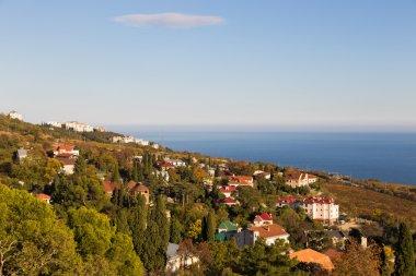 Autumn sea view