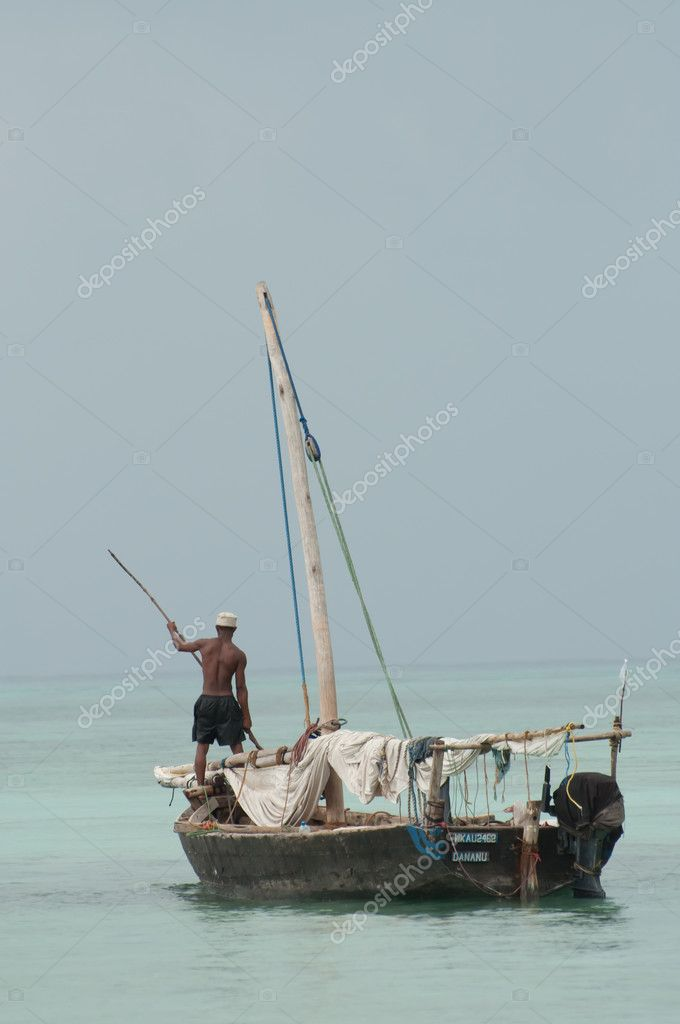 Fisherman on Dhow