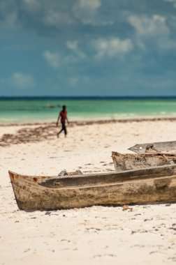 Dugout Boats on Beach