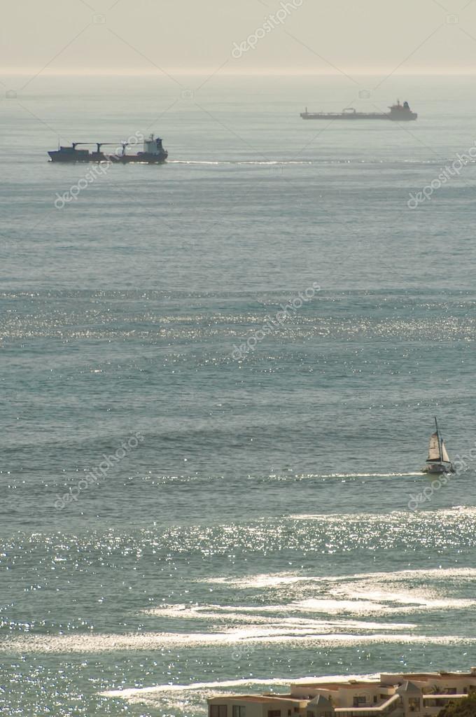 The Atlantic Ocean Viewed from Kloof Nek above Camps Bay.