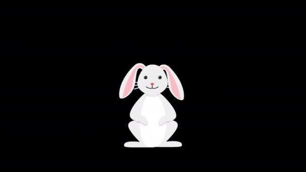 Beautiful Cute and Happy Easter Bunny, rabbit alpha channel