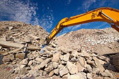 Construction demolition waste site