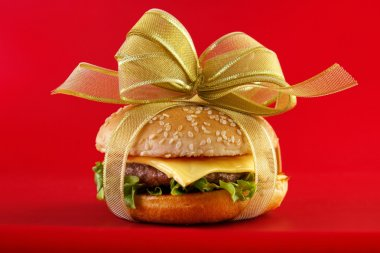 Gift wrapped burger