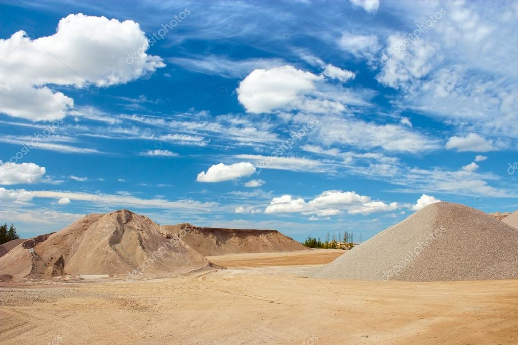 Gravel quarry construction site