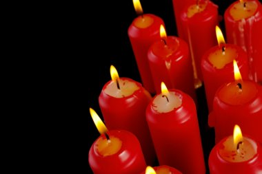 Group of red candles