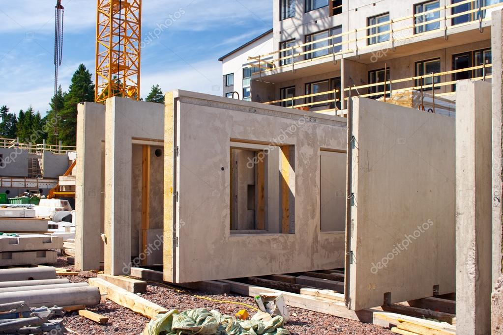 Precast concrete wall panels stock photo arskajuhani for Prefab concrete house