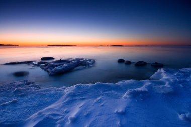 sunrise in the coast of Uutela