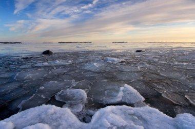 icy beach in Helsinki