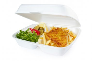 Fish and chips portion