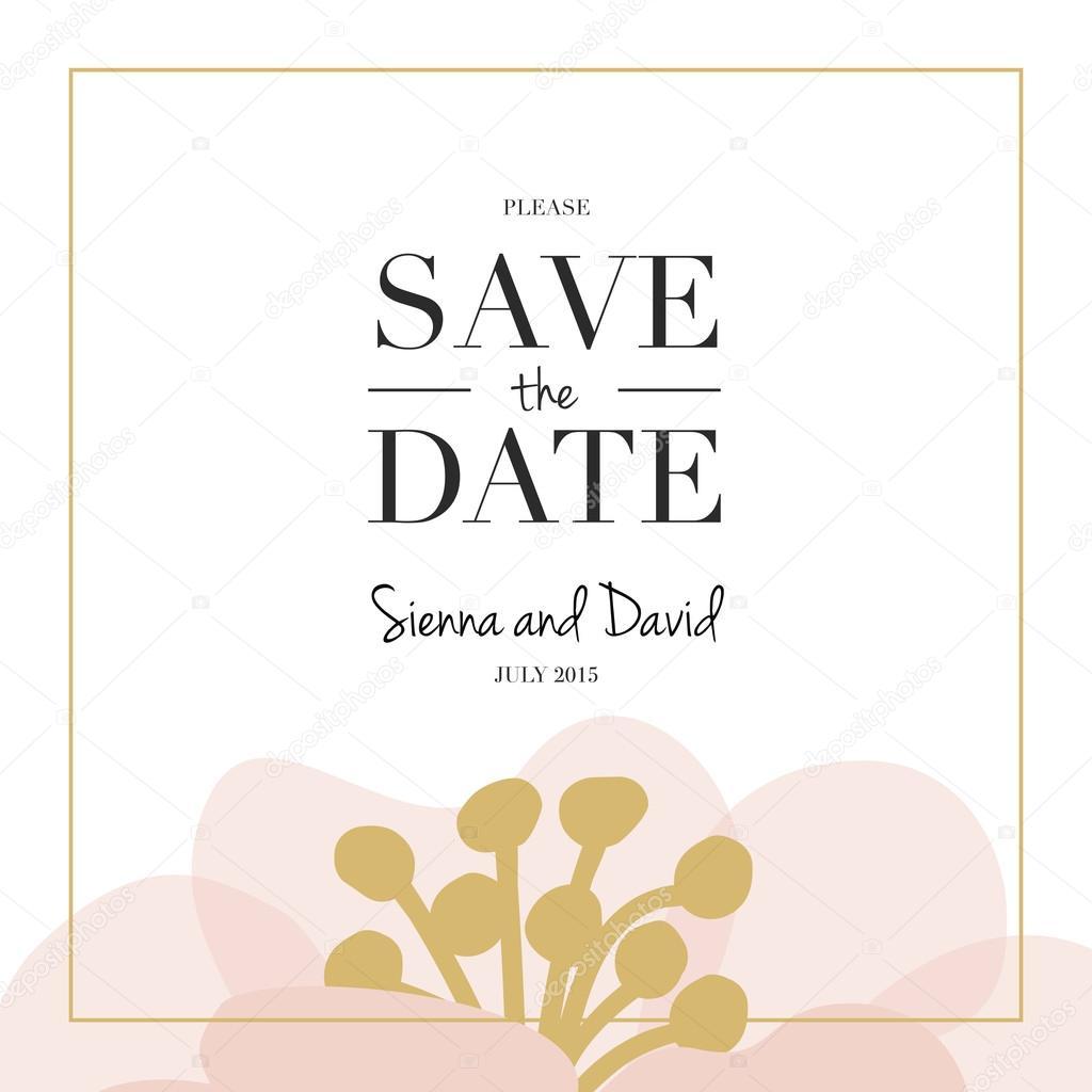 a8b944475da7 Spara datumet bröllop kortet — Stock Vektor © sommer7596 #68586183