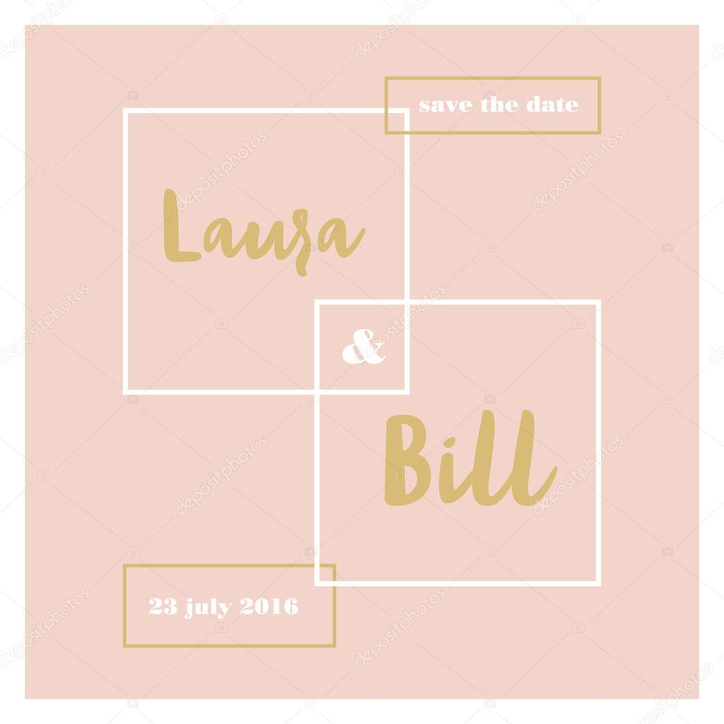 save the date wedding template card ストックベクター sommer7596