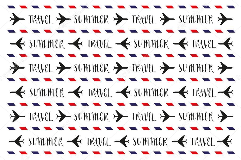 urlaub muster von text flugzeuge und elemente vektor abbildung design vektor von sommer7596 - Muster Urlaubsantrag