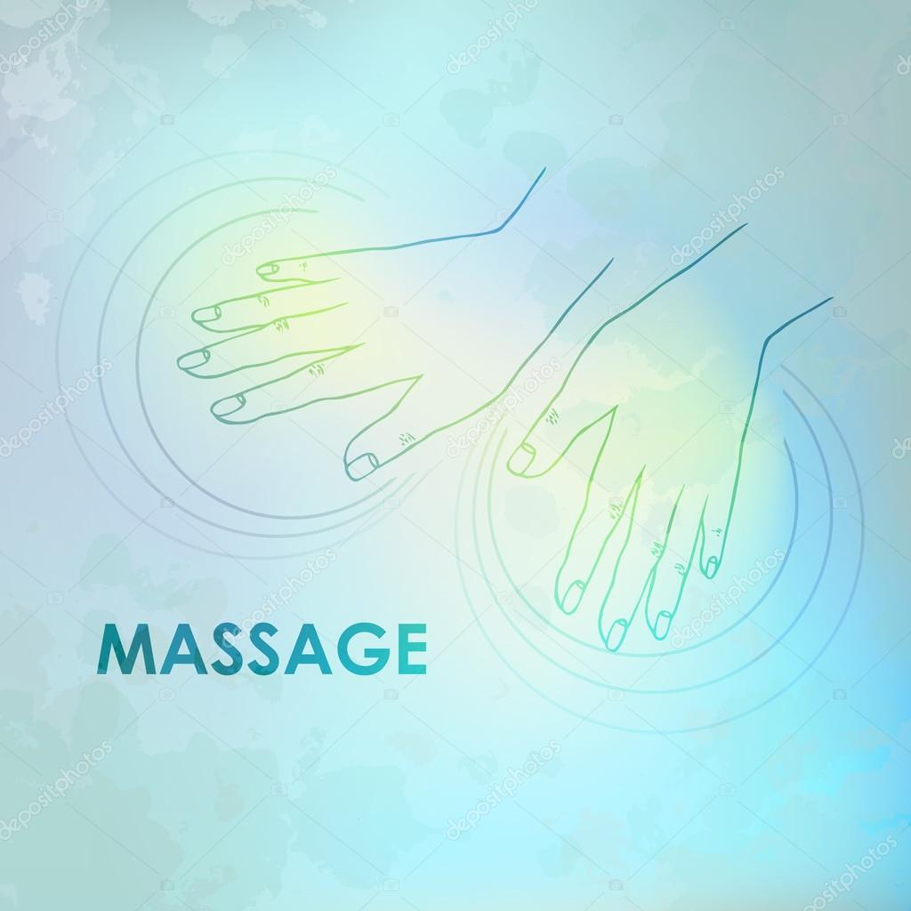 logo massage vector image