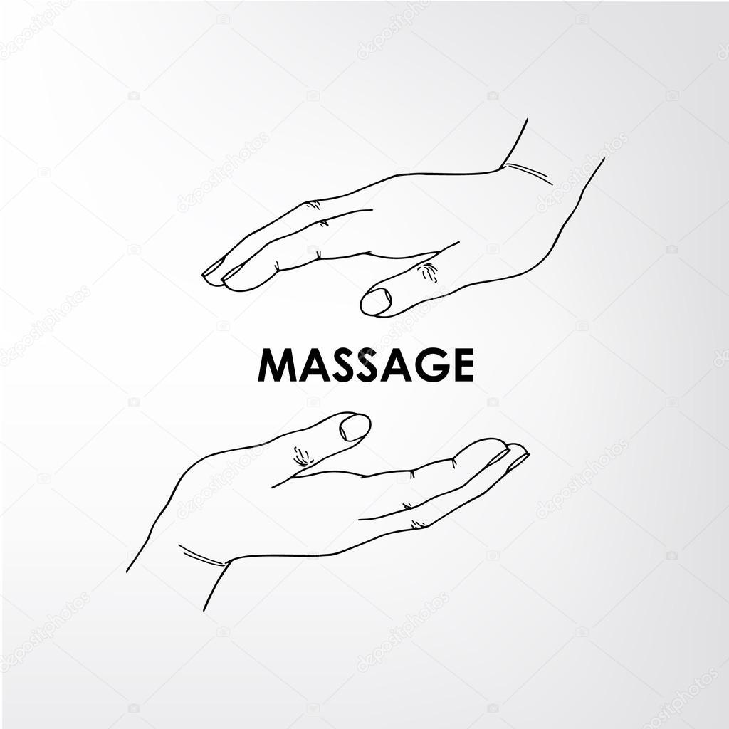 logo massage vector image
