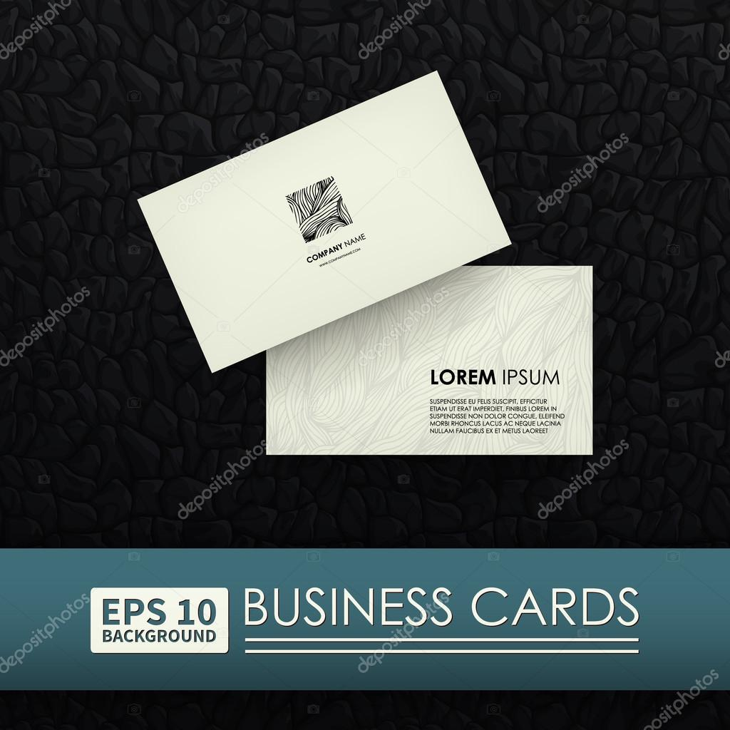 Business card vector image vetor de stock veronikas 98505864 business cards corporate identity logo zebra layouts can be used to represent your business vetor por veronikas reheart Gallery