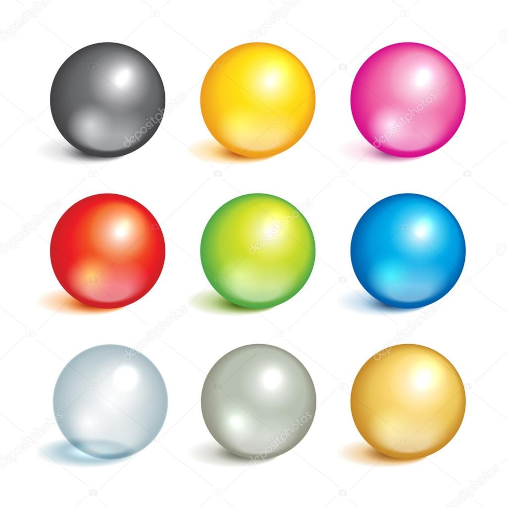 Collection of colorful balls