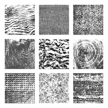 Collection of 9 square textures