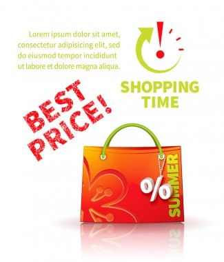 Shopping bag with advertising