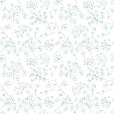 Abstract parsley  seamless pattern