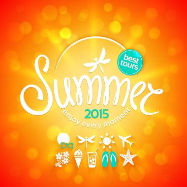 Colorful lettering summer