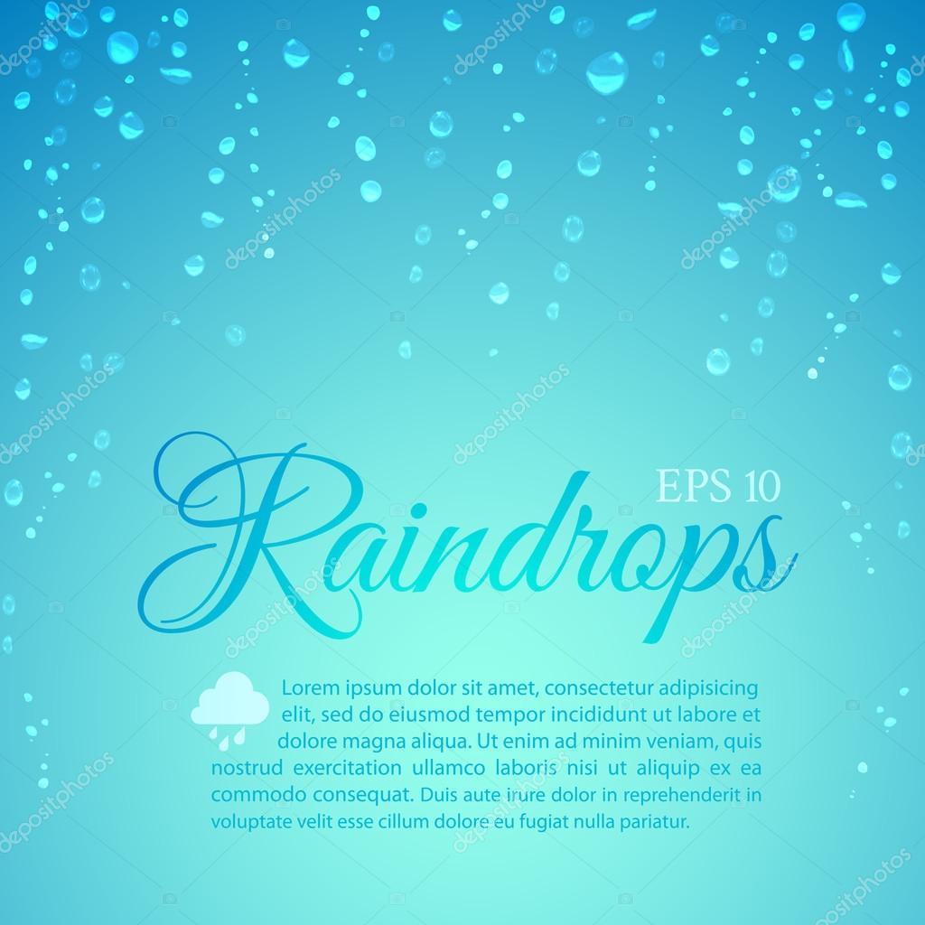 Raindrops running down