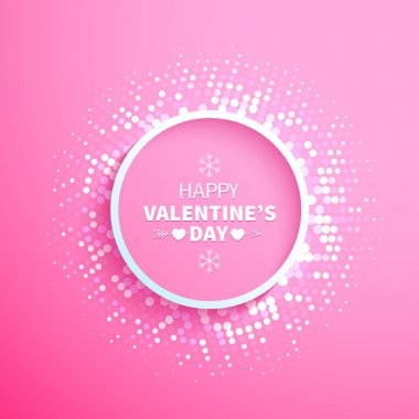 Happy Valentines day sign background