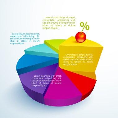 Infographics bright circle segments