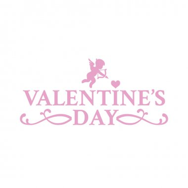 Classic vintage badge in retro design for Valentines Day with little Cupid clip art vector