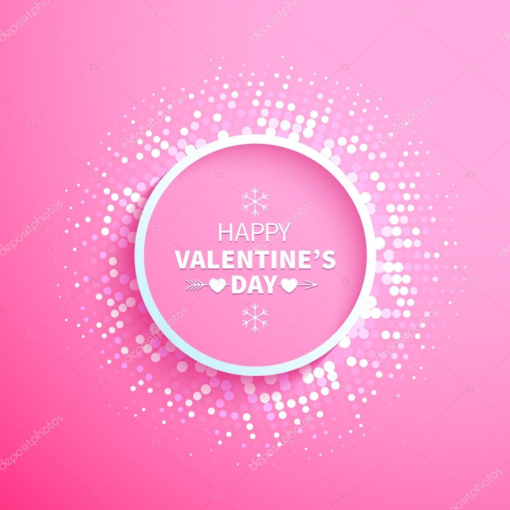 Abstract Colorful Halftone Circle Frame With White Dots End Hearts On The  Pink Background For Valentines Day U2014 Vector By YarKova