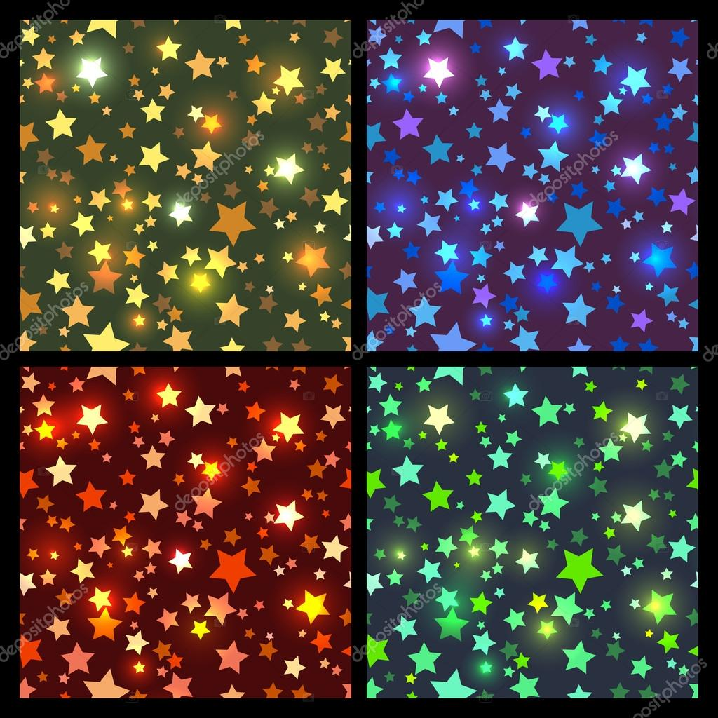 Disco Bright stars seamless
