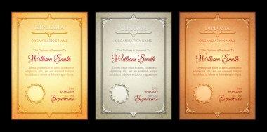 Three classic diplomas
