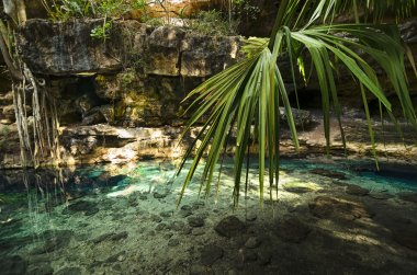 X-Batun Cenote - natural lagoone with transparent turquoise wate
