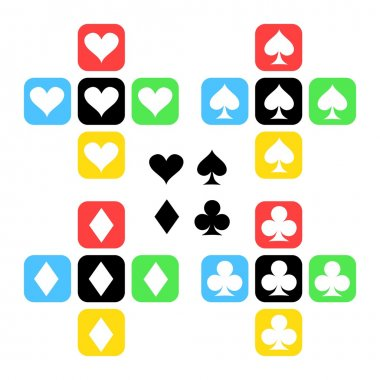 Card suits icons