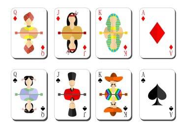 playing cards bubi peaks