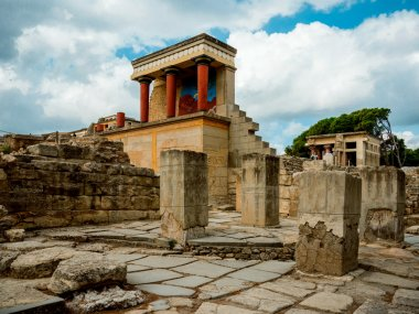 The ruins of the palace of Knossos (the labyrinth of the Minotaur) in Crete