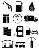 Photo Gas station icons set