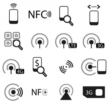 Mobile phone network icons