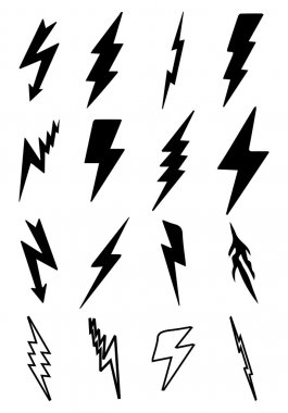Thunder bolt icons