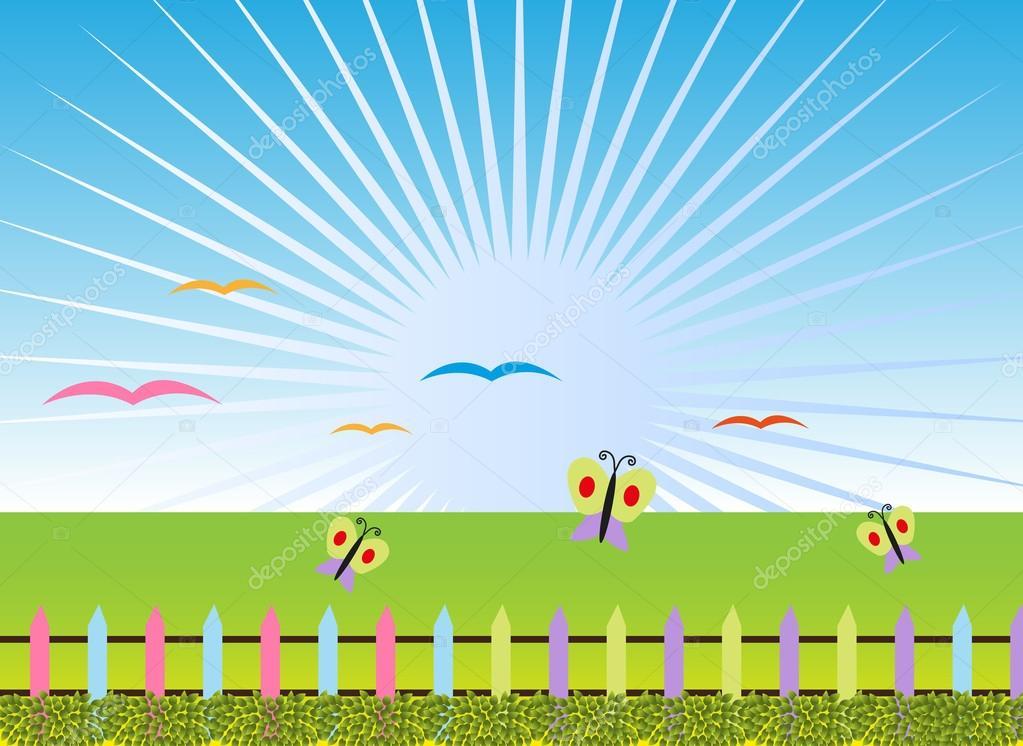 Colorful Nature Cartoon Landscape Stock Vector C Sdp Creations