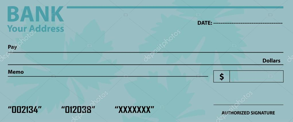 Blank Cheque Template — Stock Vector © Sdp_Creations #59452975