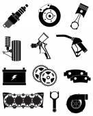 Photo Vehicle Parts icons set